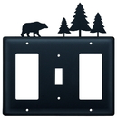 Village Wrought Iron EGSG-83 Bear & Pine Trees - Single GFI, Switch and GFI Cover