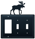 Village Wrought Iron EGSS-19 Moose - Single GFI and Double Switch Cover
