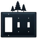 Village Wrought Iron EGSS-20 Pine Trees - Single GFI and Double Switch Cover