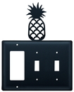 Village Wrought Iron EGSS-44 Pineapple - Single GFI and Double Switch Cover