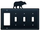 Village Wrought Iron EGSSS-14 Bear - Single GFI and Triple Switch Cover
