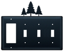 Village Wrought Iron EGSSS-20 Pine Trees - Single GFI and Triple Switch Cover