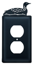 Village Wrought Iron EO-116 Loon - Single Outlet Cover