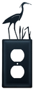 Village Wrought Iron EO-133 Heron - Single Outlet Cover