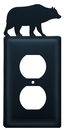 Village Wrought Iron EO-14 Bear - Single Outlet Cover