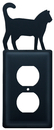 Village Wrought Iron EO-6 Cat - Single Outlet Cover