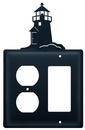 Village Wrought Iron EOG-10 Lighthouse - Single Outlet and GFI Cover