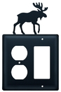 Village Wrought Iron EOG-19 Moose - Single Outlet and GFI Cover