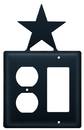 Village Wrought Iron EOG-45 Star - Single Outlet and GFI Cover