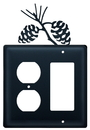 Village Wrought Iron EOG-89 Pinecone - Single Outlet and GFI Cover