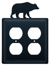 Village Wrought Iron EOO-14 Bear - Double Outlet Cover