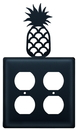 Village Wrought Iron EOO-44 Pineapple - Double Outlet Cover
