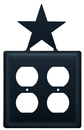 Village Wrought Iron EOO-45 Star - Double Outlet Cover