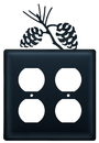 Village Wrought Iron EOO-89 Pinecone - Double Outlet Cover