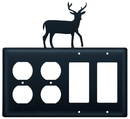 Village Wrought Iron EOOGG-3 Deer - Double Outlet and Double GFI Cover