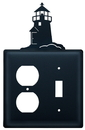 Village Wrought Iron EOS-10 Lighthouse - Single Outlet and Switch Cover