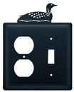 Village Wrought Iron EOS-116 Loon - Single Outlet and Switch Cover