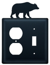 Village Wrought Iron EOS-14 Bear - Single Outlet and Switch Cover