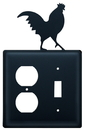 Village Wrought Iron EOS-1 Rooster - Single Outlet and Switch Cover
