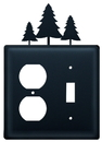 Village Wrought Iron EOS-20 Pine Trees - Single Outlet and Switch Cover