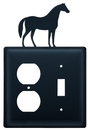 Village Wrought Iron EOS-68 Horse - Single Outlet and Switch Cover