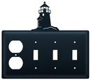 Village Wrought Iron EOSSS-10 Lighthouse - Single Outlet and Triple Switch Cover