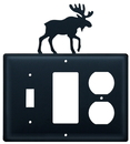 Village Wrought Iron ESGO-19 Moose - Single Switch, GFI and Outlet Cover