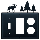Village Wrought Iron ESGO-22 Moose & Pine Trees - Single Switch, GFI and Outlet Cover