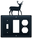 Village Wrought Iron ESGO-3 Deer - Single Switch, GFI and Outlet Cover