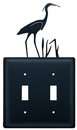 Village Wrought Iron ESS-133 Heron - Double Switch Cover