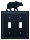 Village Wrought Iron ESS-14 Bear - Double Switch Cover