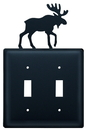 Village Wrought Iron ESS-19 Moose - Double Switch Cover