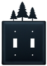 Village Wrought Iron ESS-20 Pine Trees - Double Switch Cover