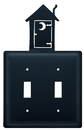 Village Wrought Iron ESS-256 Outhouse - Double Switch Cover