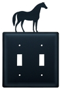 Village Wrought Iron ESS-68 Horse - Double Switch Cover