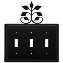 Village Wrought Iron ESSS-109 Leaf Fan - Triple Switch Cover