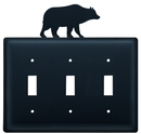 Village Wrought Iron ESSS-14 Bear - Triple Switch Cover