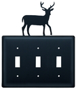 Village Wrought Iron ESSS-3 Deer - Triple Switch Cover