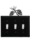 Village Wrought Iron ESSS-89 Pinecone - Triple Switch Cover