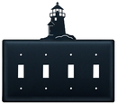 Village Wrought Iron ESSSS-10 Lighthouse - Quadruple Switch Cover