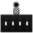 Village Wrought Iron ESSSS-44 Pineapple - Quadruple Switch Cover