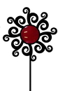 Village Wrought Iron GS-C-262 Artisitc Flower - Garden Stake