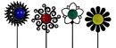 Village Wrought Iron GS-C-SET Set Of 4 - Garden Stakes