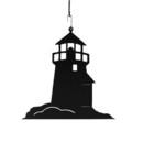 Village Wrought Iron HOS-10 Lighthouse - Decorative Hanging Silhouette