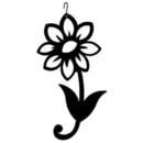 Village Wrought Iron HOS-172 Shasta Daisy - Decorative Hanging Silhouette