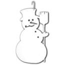 Village Wrought Iron HOS-175W Snowman - Decorative Hanging Silhouette-WHITE