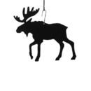 Village Wrought Iron HOS-19 Moose - Decorative Hanging Silhouette