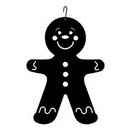 Village Wrought Iron HOS-223 Gingerbread Boy - Decorative Hanging Silhouette