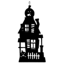 Village Wrought Iron HOS-234 Haunted House - Decorative Hanging Silhouette