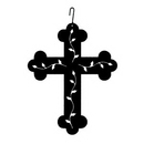 Village Wrought Iron HOS-252 Cross - Decorative Hanging Silhouette